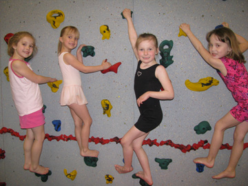 Girls on Climb wall